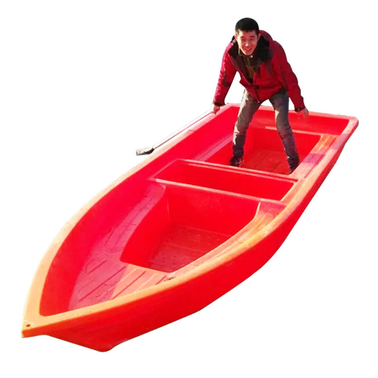Supply high quality orange small plastic fishing boat for sale