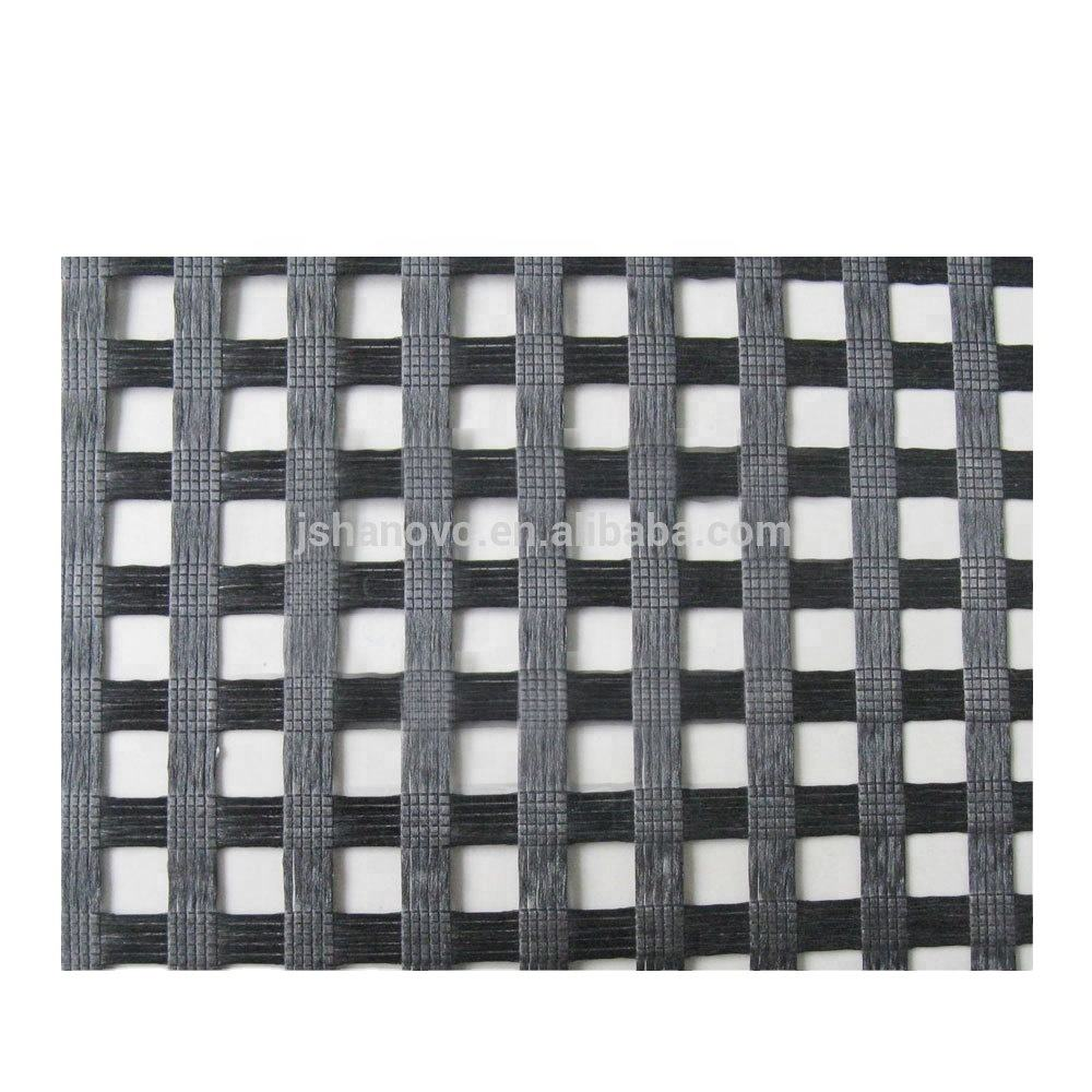 25-200kN/m High Quality Black Polyester Biaxial PET Geogrid