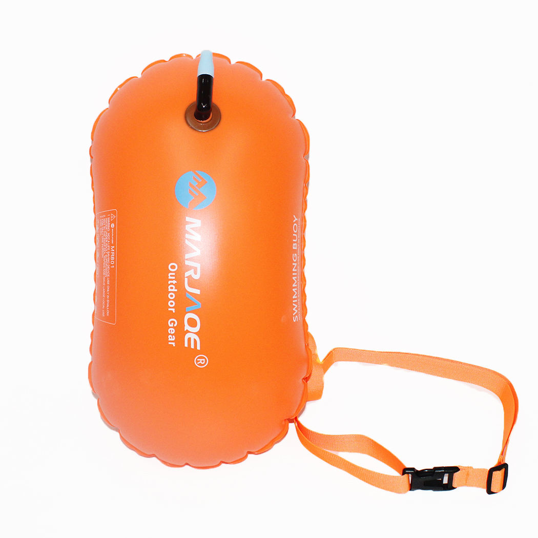 Light Weight High Quality Outdoor Open Water Waterproof PVC Inflatable Safe swim safety float Swim Buoy