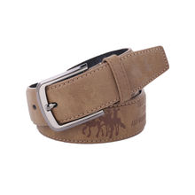 Wholesale pure leather men belt ceinture with embossing J&W logo