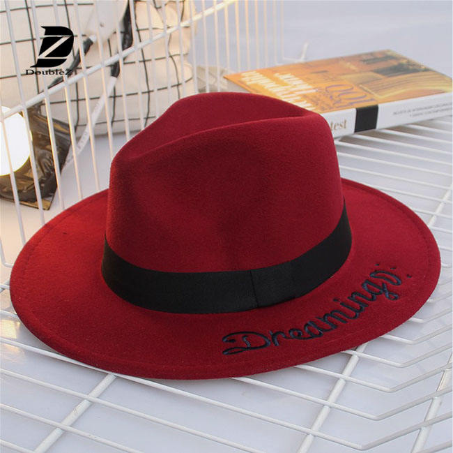 New Design Women Wool Felt Fedora Hats
