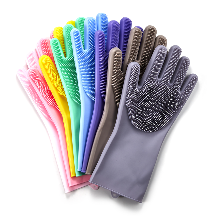 2019 New Kitchen Silicone Cooking Glove Magic Silicone Dish Washing Gloves For Household