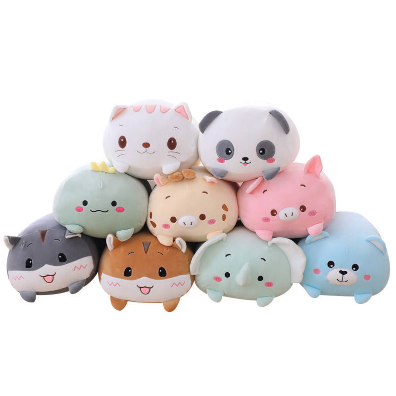 9 Styles Animal Sweet Dinosaur Pig Cat Bear Plush Toy Soft Cartoon Panda Hamster Elephant Deer Stuffed Doll Baby Pillow Gift