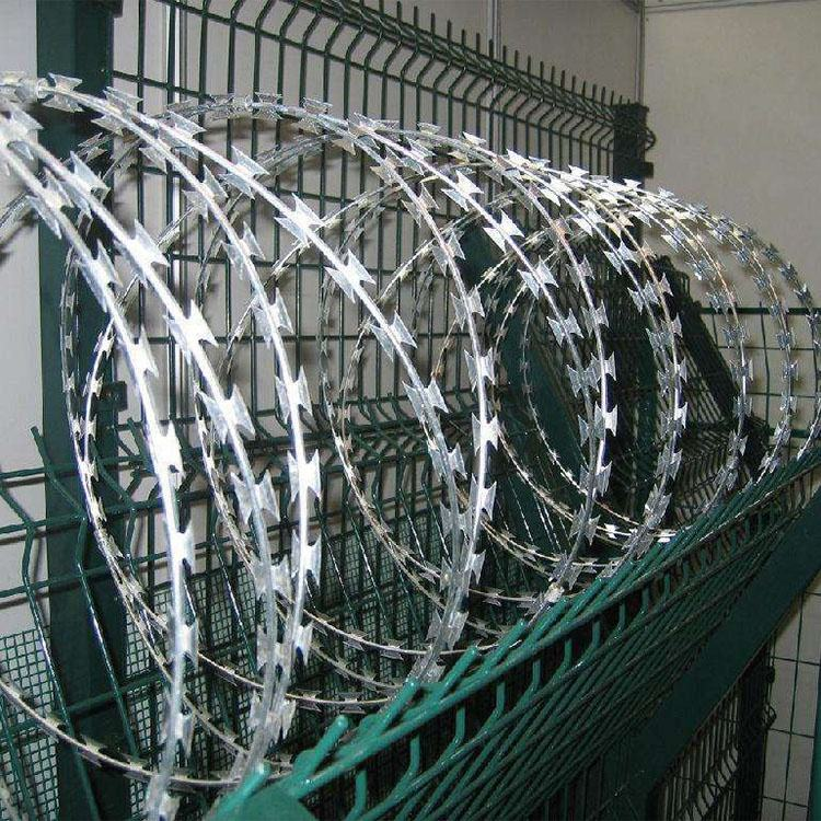 Cross Razor Type and Iron Wire Material Anti-rust razor blade barbed wire for sale