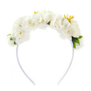 girl gift diy headband big white flower hair band plastic headband