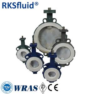 factory directly cast iron butterfly valves with fully lined PTFE