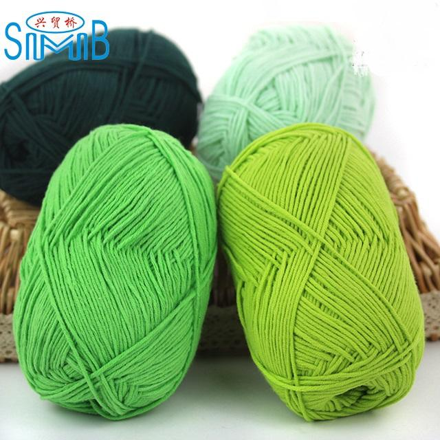Knitting yarns china supplier cheapest wholesale eco-friendly baby milk cotton yarn for hand knitting