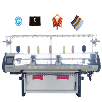 Single system double carriages collar cuffs blanket knitting machine