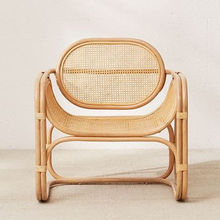 New Arrival Urban Accent Natural Rattan Outdoor Bistro Modern Cane Lounge Chair