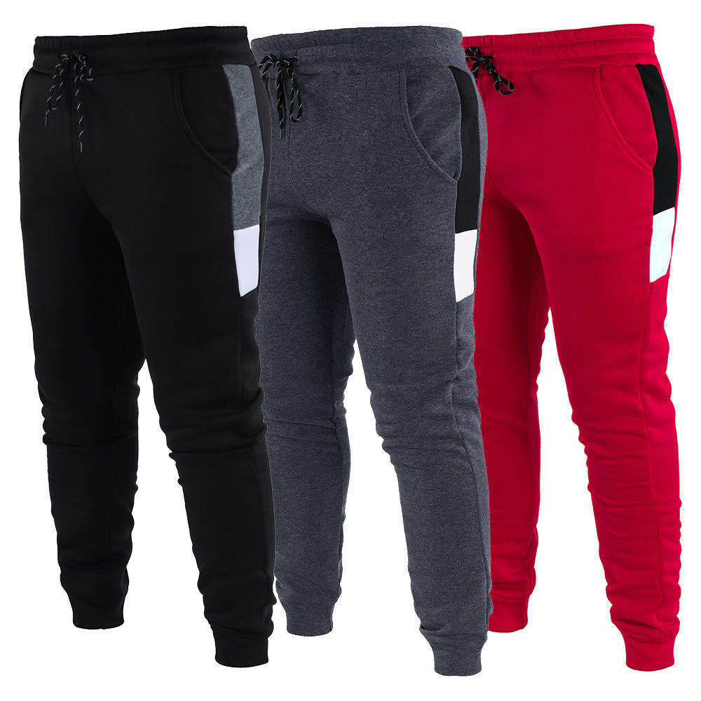 New fashion autumn winter europe men street warm pants outdoor casual trousers long pencil pants