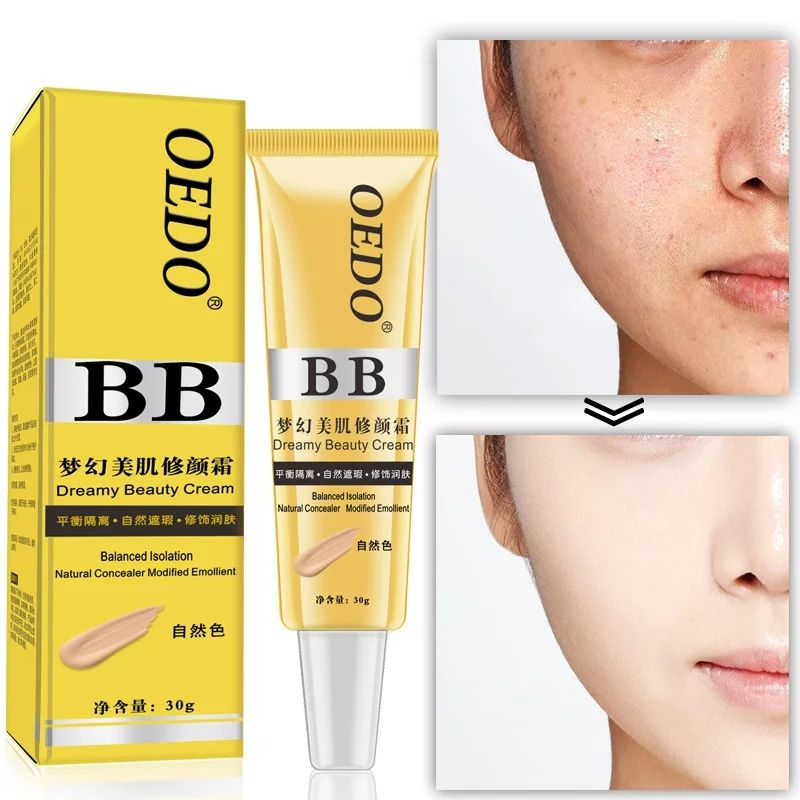 OEDO Brand Face Natural Moisturizing Nourishing Make Up Base BB Cream Nude Makeup Basic Products Concealer Skin Cream