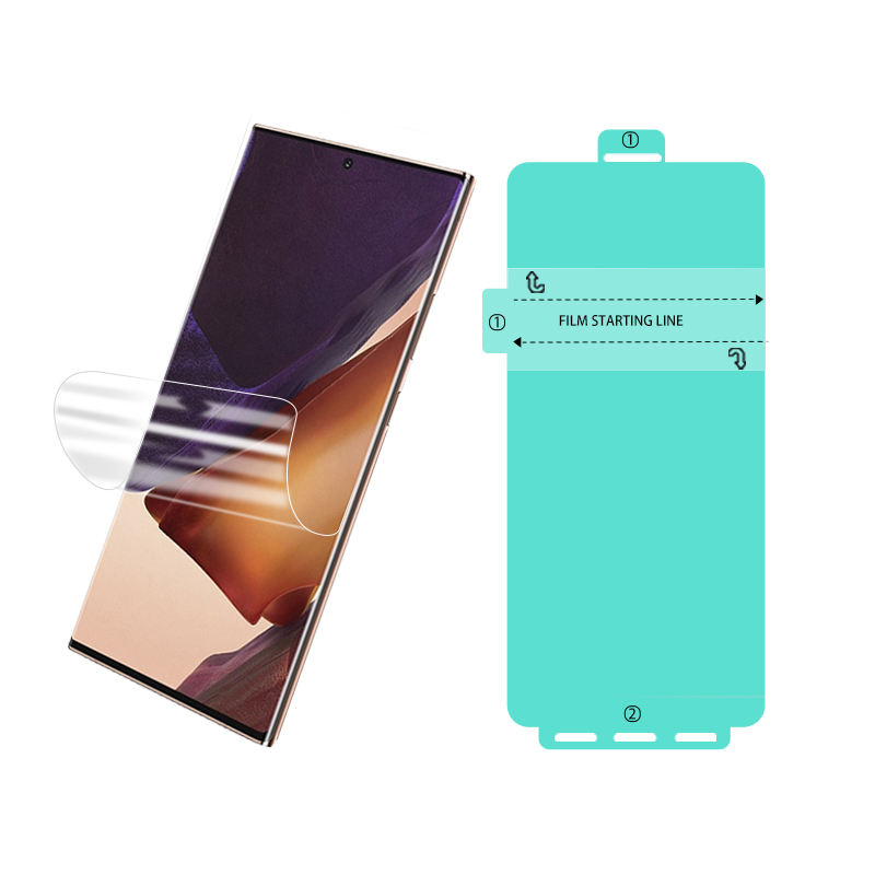 Hydrogel Tpu Screen Protector JJT Custom 3D High Quality Mobile Phone Hydrogel Protective Film Not Glass Ultrthin TPU Screen Protector For Samsung Galaxy