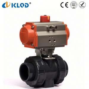 Low Cost Pneumatic Power PVC Double Union Ball Valve