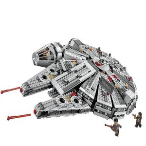 คุณภาพสูง 1355 PCSสีขาวStar Battle Space Ship Building Blocksชุดslegoinglys Wars 75192