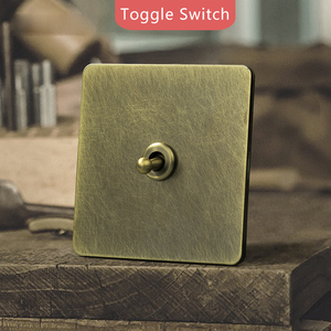 UK brass toggle Switches and Wall+ sockets for homes modular light USB gang cover electric dimmer electrical plate power