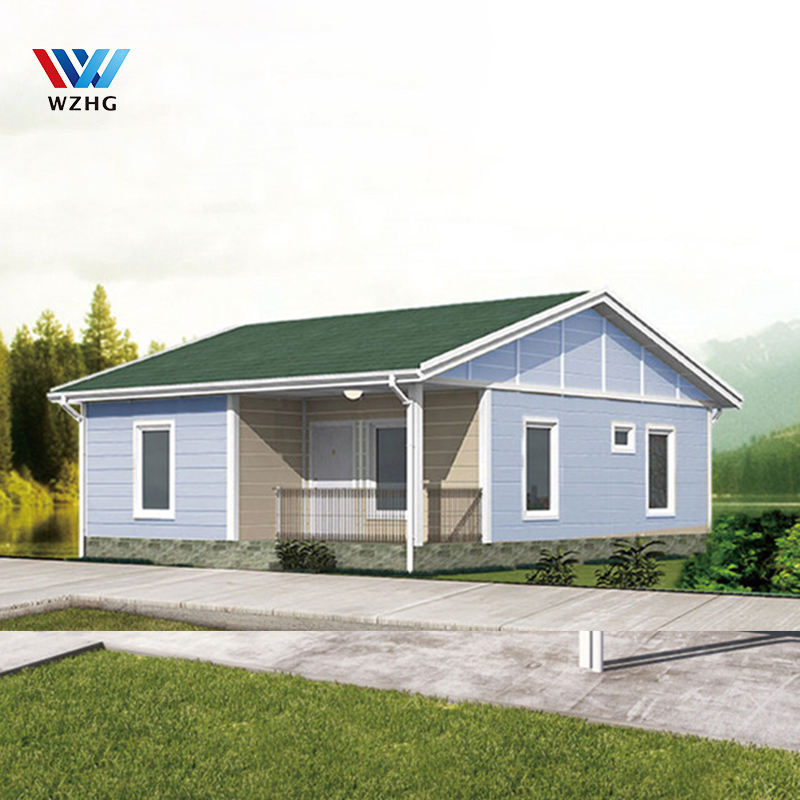 Low cost fashionable Modular light steel prefabricated prefab luxury wooden villa house