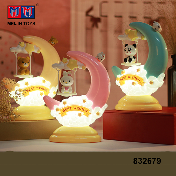 hot products desk led night cartoon moon kids table lamp