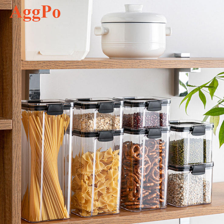 Airtight Food Storage Containers with Lids Airtight Plastic Dry Food Space Saver Boxes for Bulk Food, Flour, Sugar and Baking