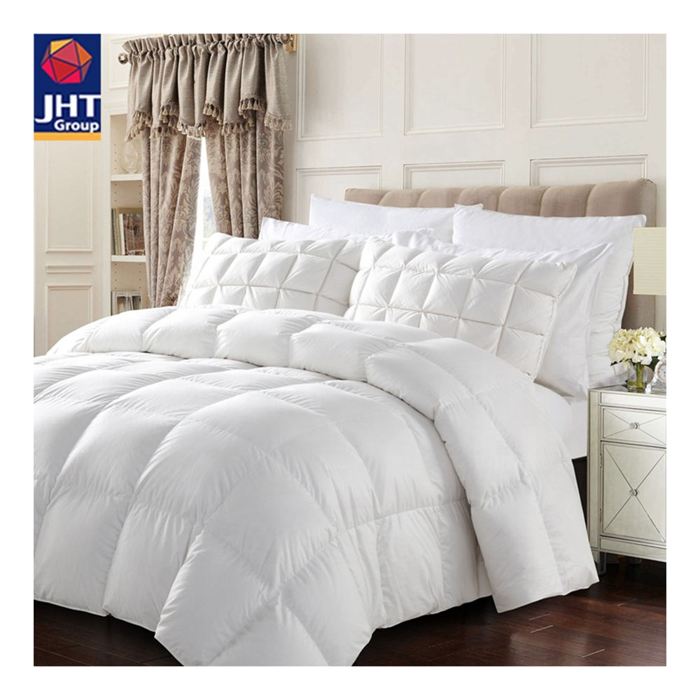 JHT High Quality 100% Cotton White Bedding Set Wool Patchwork Quilt for Winter