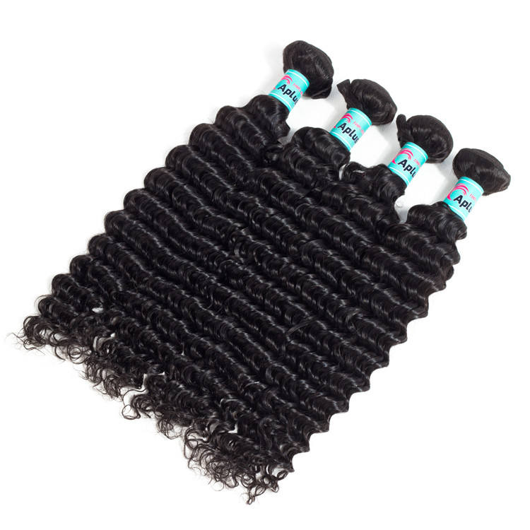 Xuchang fuxin products co 10a virgin deep wave wavy raw weave texture with closure cambodian curly hair