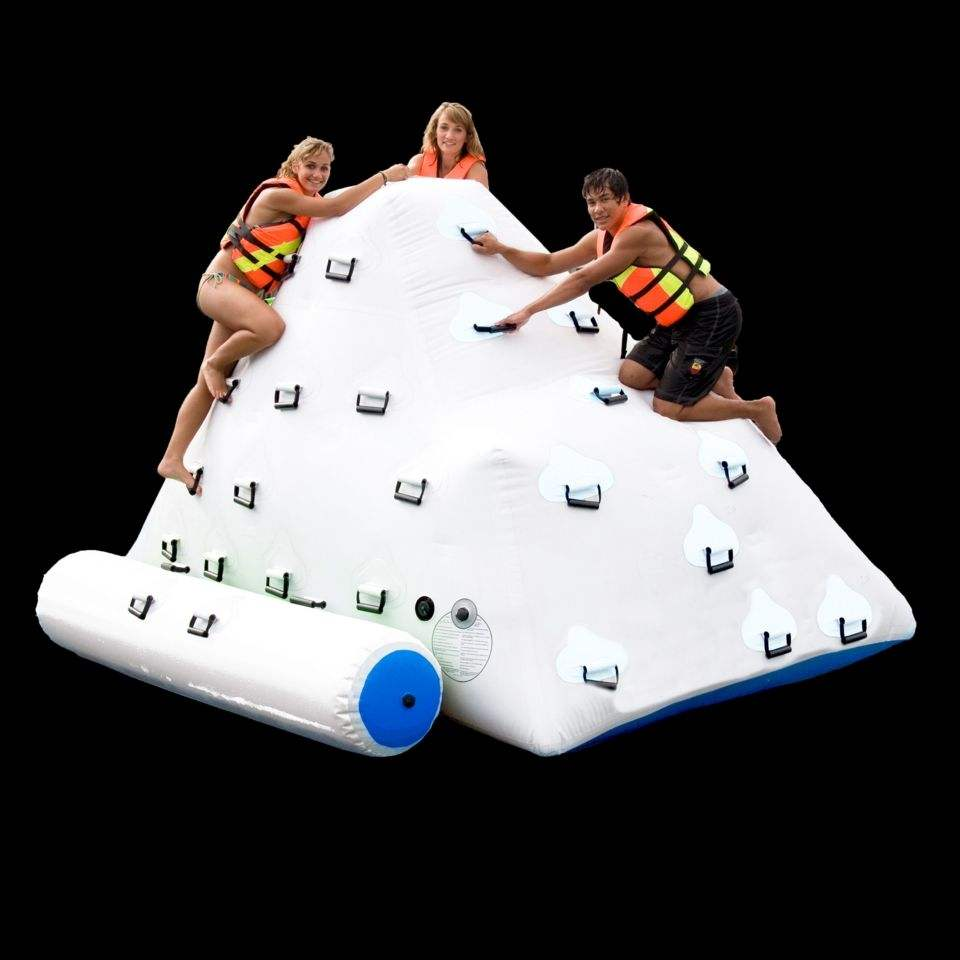 Custom Big mini Floating inflatable iceberg giants inflatable water climbing game toy with slide for aqua park