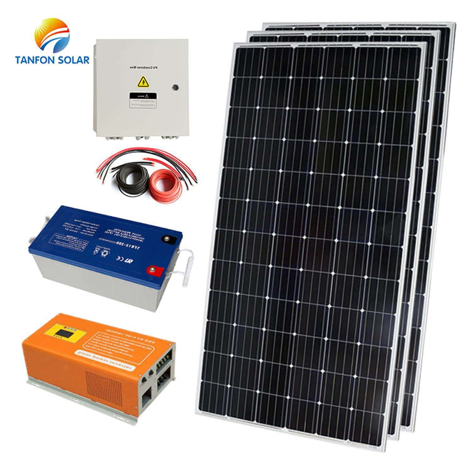 New product Solar Energy 2kw 3kw 5kw 6kw 8kw Pv Off Grid Solar Power System Solaire 1000w 1kw Panel Kit Price For Home