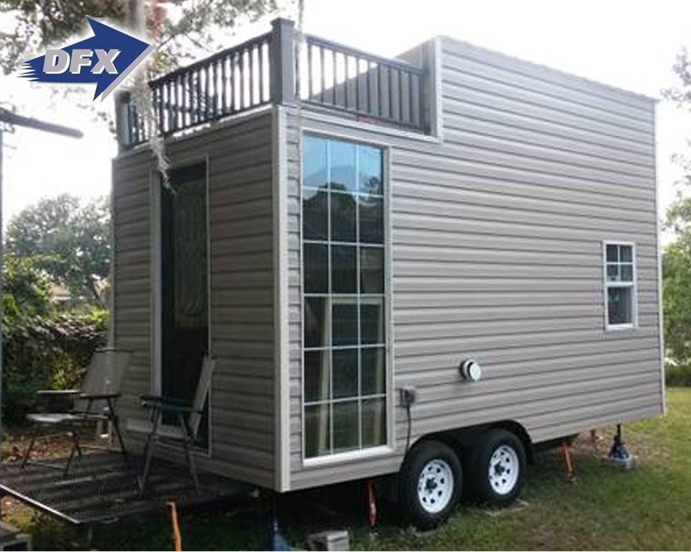 Carvilla Caravan Container House Home 3 Rooms Portable Living Flat Tiny House On Wheels