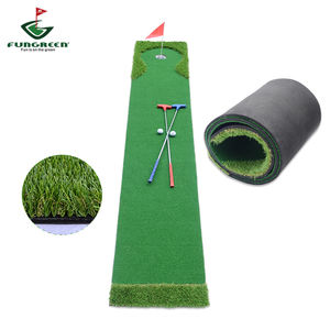 FUNGREEN Mini Putt Golf Putting Green de Golfe Indoor Portátil Tapete com Grama Artificial e Fundo EVA