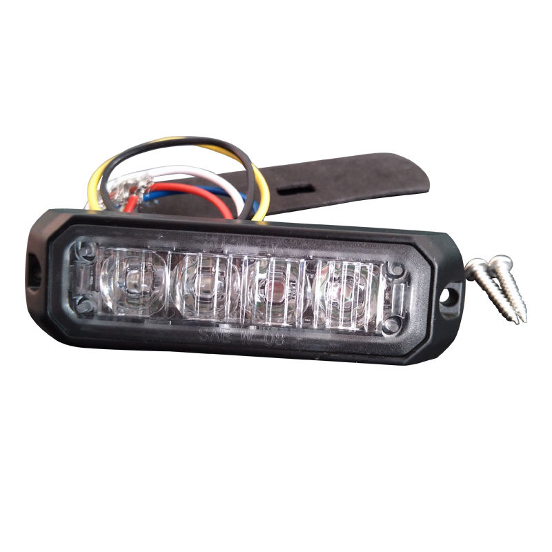surface mount led strobe 4 LEDs car warning police strobe led light
