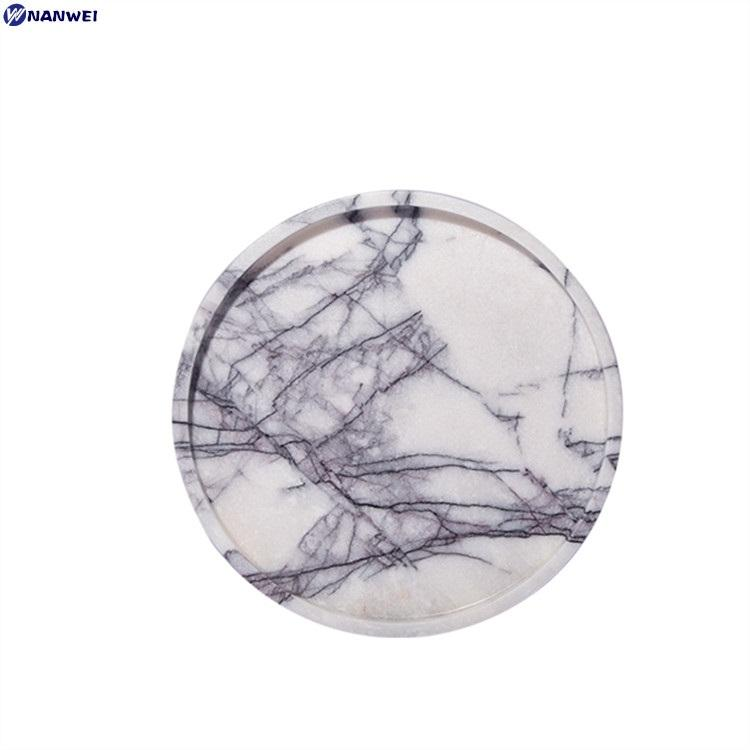 Round marble dry fruit plate wholesale