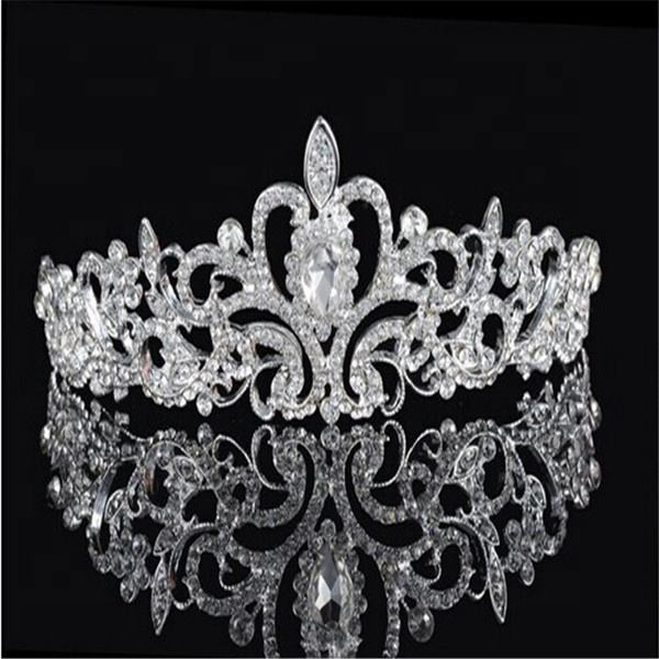 High Quality For Adult Wedding Bridal Hair Accessories Rhinestone Crystal Bling Tiaras And Wedding Crown Designer Bridal Crown