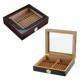 Humidor 20 Count Cigar Box Wooden Humidor Cedar Wood Lining Glass Lid Custom Logo