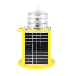 Palette 6 ~ 10 NM Solar powered panel Marine leuchtfeuer Aids zu Navigation blinkende LED laterne
