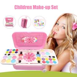 Princess Water-soluble Nail Polish Make Up Kits Makeup Cosmetics Set Children Play House with Suitcase Kids Pretend Play Toy