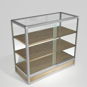 commercial use aluminium frame glass display cabinet Department store glass showcase