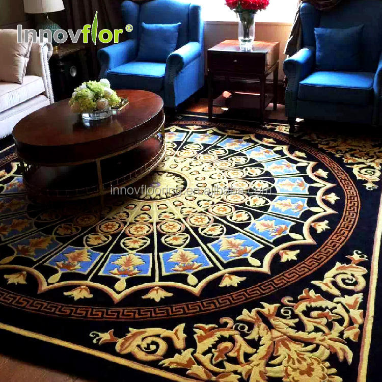 Commercial Classical Silk&Wool Handtufted Industrial Handmade Carpet
