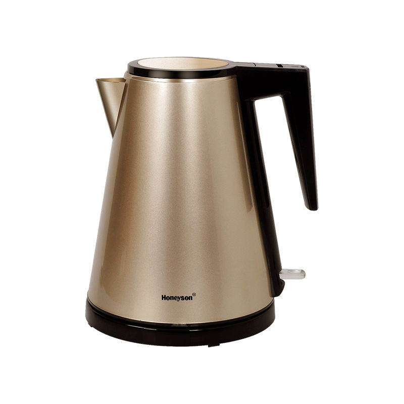 Honeyson 5 star hotel room 1.2L cordless stainless steel electric kettle with tray set