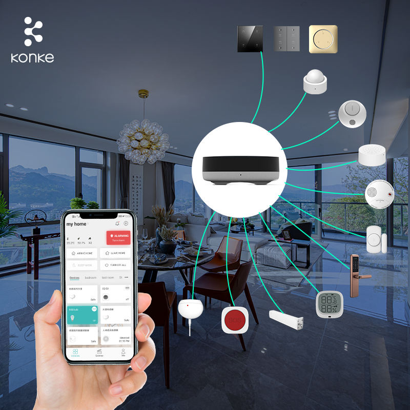 KONKE home automation remote switches zigbee smart home system