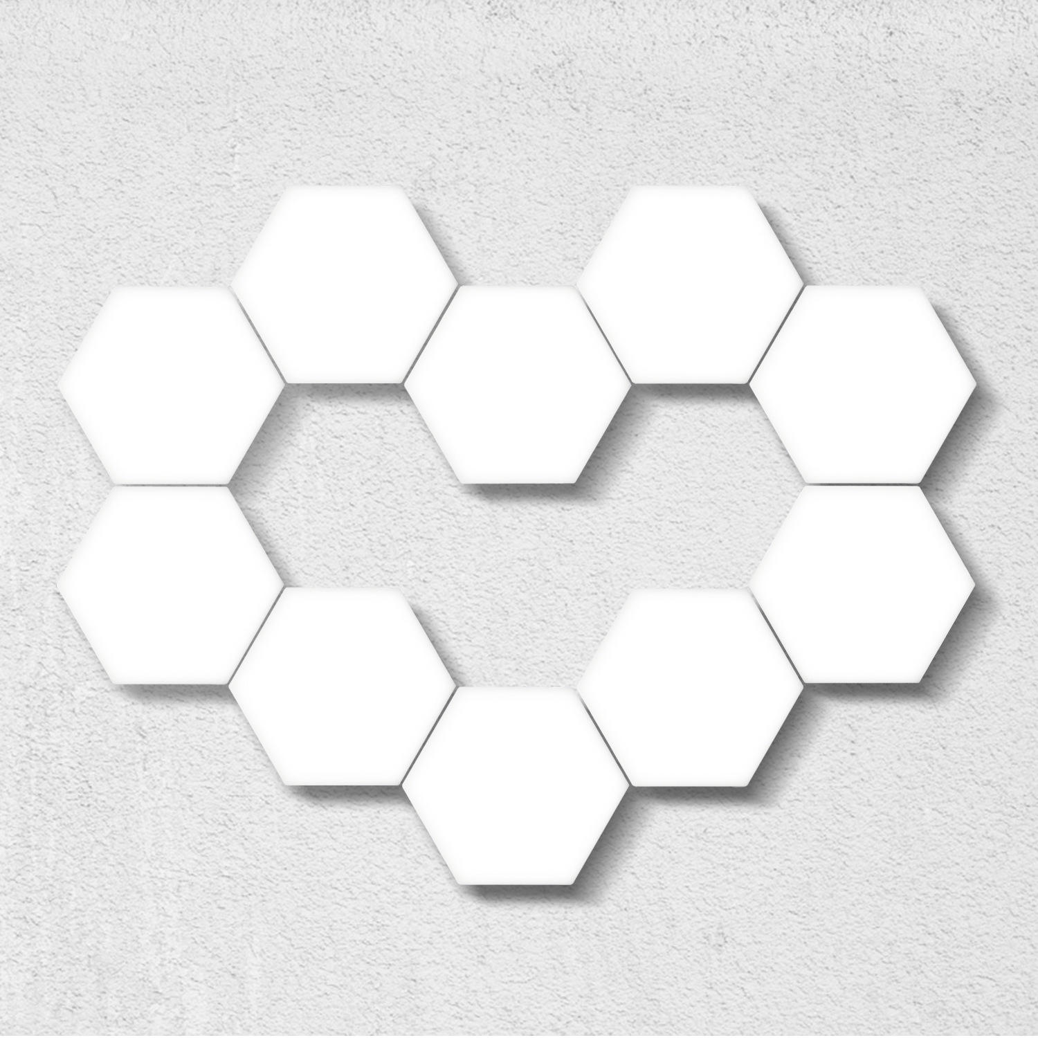 Led Hexagonal Lamps Touch Sensitive Lighting Magnetic Creative Decoration Wall Quantum 3d Led Night Light Wall Lamps