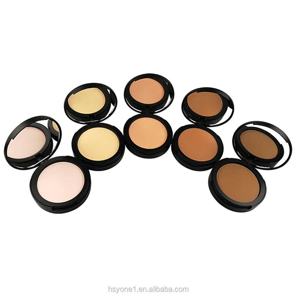Improved formula product high quality custom foundation face pressed powder palette 5 color makeup cosmetics beauty