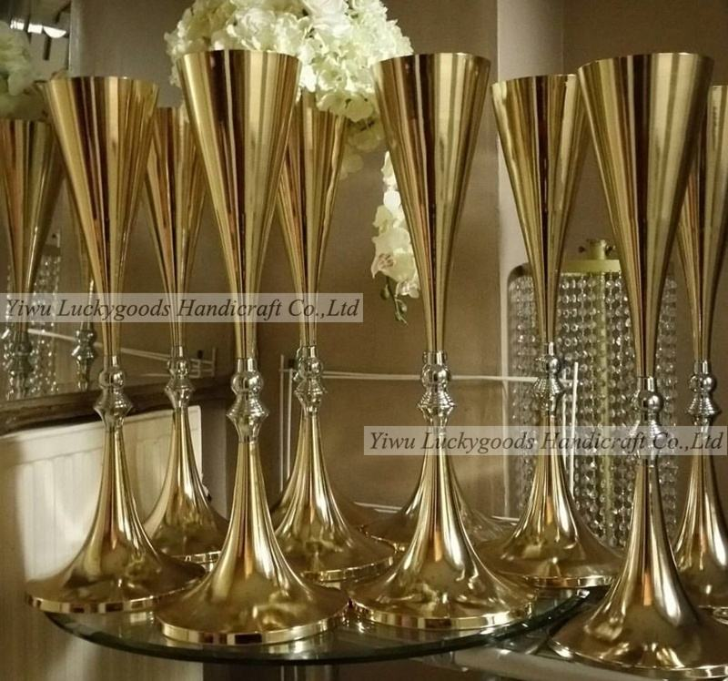 LDJ293 2019 Best selling 70cm tall wedding gold candelabra centerpiece on sale