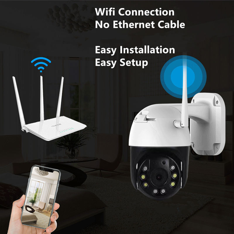 Goedkope Kleine Camara Camera P2P Cc Tv Wifi Ptz Camera Outdoor Ip Cameral 1080P Ptz Netwerk Wifi Ip Security camera Ir Ptz-camera 'S