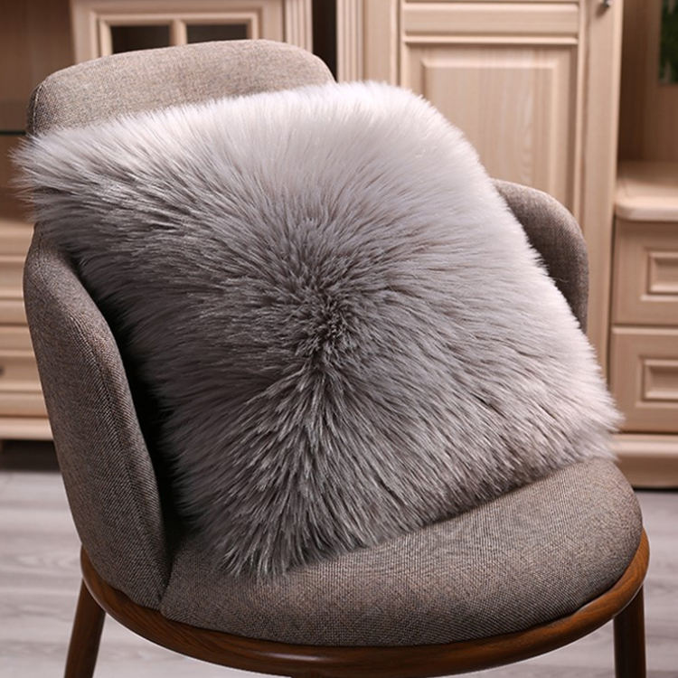 Luxury Series Soft Faux Fur Throw Pillow Cover Decorative Square Plush Pillow Case Cushion Cover for Couch Sofa Bed, 18x18inch