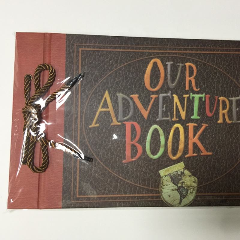 Our Adventure Book -- DIY Scrapbook, Album Foto 19X29Cm, 40 Lembar Kertas Memegang Foto