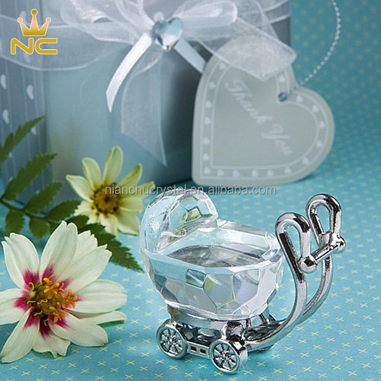 Small Choice Souvenirs Gifts Crystal Baby Carriage For Baby Shower Favors