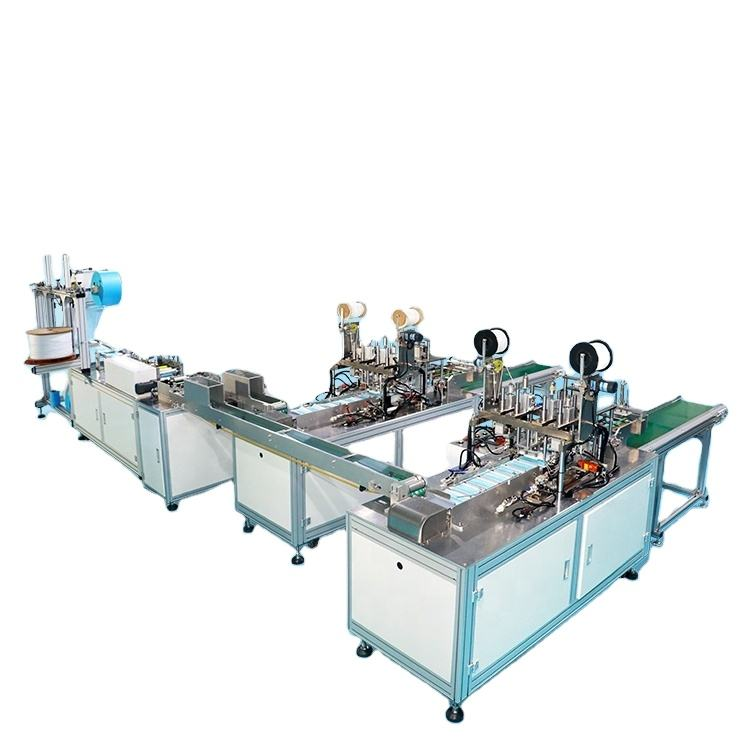 Full Automatic One-Driving-Two Typed non woven Disposable 3ply Face Mask Making Machine in stock
