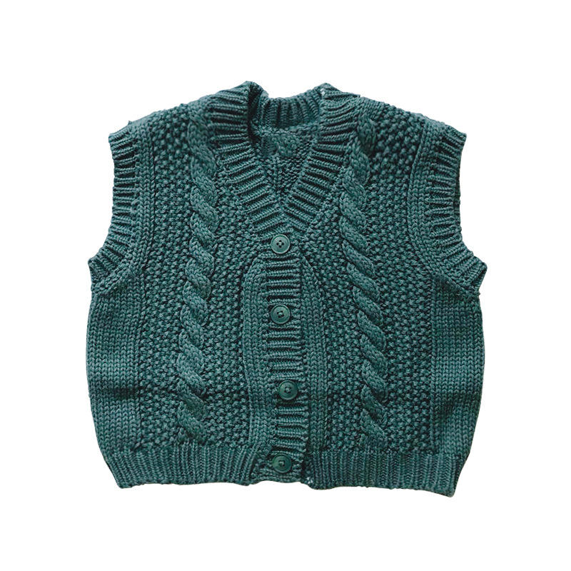 New born winter design cotton knit wool woolen boy baby kid cardigan children striped sleeveless sweater vest