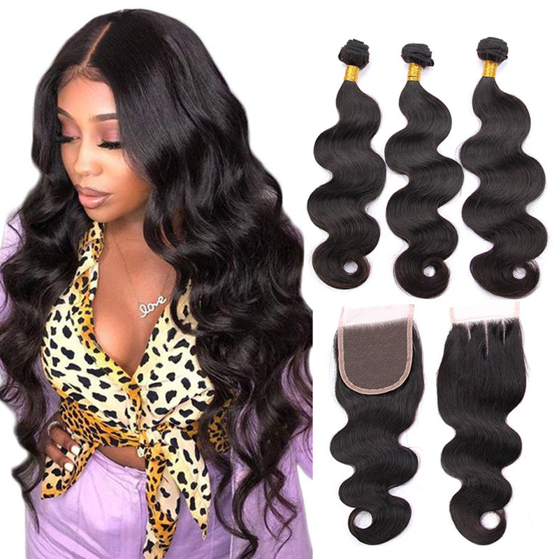 100% indian hair human bundles with closure, indian hair indian hair accessories jewelry