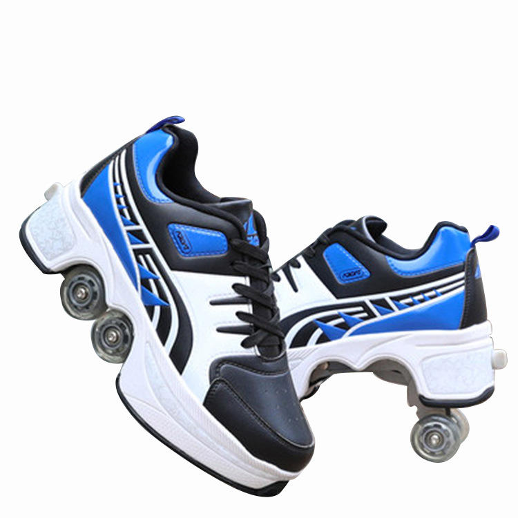 2020 Hot Selling Good Quality Rental Rink Professional Level Quad 4 Wheels canvas PU Roller Skates