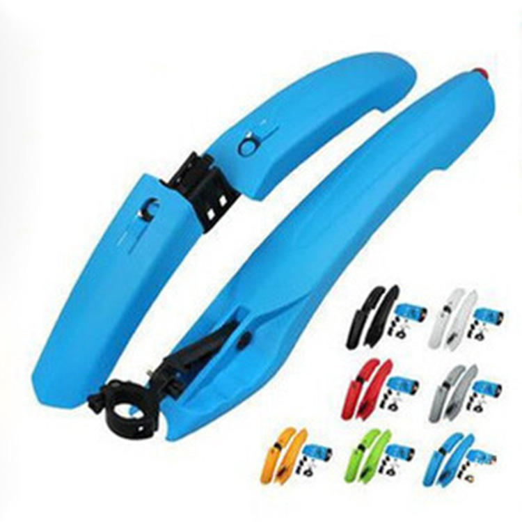 Newest Sale Bike Parts Colorful Mountain Bicycle Front Rear Mudguard Set With LED